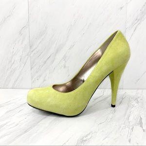 Steve Madden- Trinitie Yellow Suede Heels Size 8.5